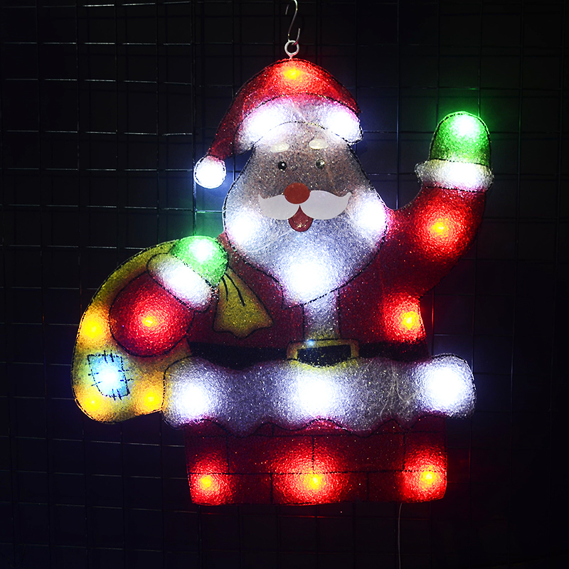 2D motif lights Santa clause - 21.5 in. Tall holiday lights outdoor christmas decoration party xmas lights home decor