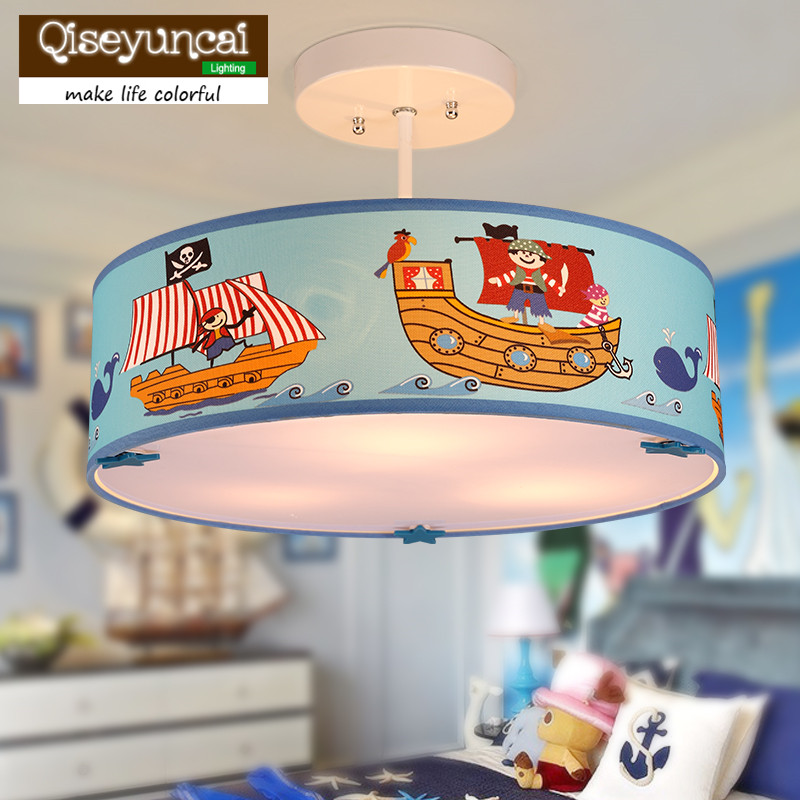 Qiseyuncai Mediterranean personality pirate ship childrens room chandelier creative led boy bedroom warm creative lightingQiseyuncai Mediterranean personality pirate ship childrens room chandelier creative led boy bedroom warm creative lighting