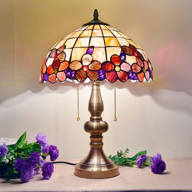 BOCHSBC Art Deco Bureau Led Lamp Pioen Shell Tafel Lichten Europese tafel Lampada da tavolo Lamp Voor Woonkamer Studeerkamer Slaapkamer - 5