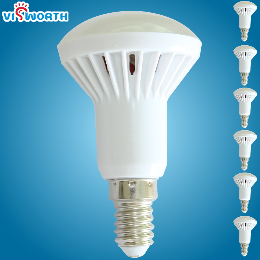 [VisWorth]R50 LED Bulbs E14 Base SMD5730 Lampada LED Bombillas AC 110 220V 240V Warm White Cold White Led Lamp For LivingRoom