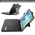 Ультра-тонких высокое качество со съемной ABS Bluetooth клавиатура стенд портфолио кожаный чехол / крышка для Samsung Galaxy Tab S2 9.7 T815