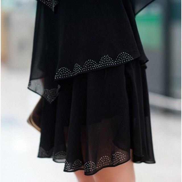 5XL Plus Size Women Clothing 2018 Chiffon Dress Summer Dresses Party Short Sleeve Casual Vestido De Festa Blue Black Robe Femme 5