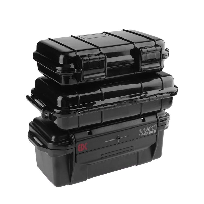 3 Sizes Outdoor Shockproof Sealed Waterproof safety case equipment ABS Plastic Tool case Dry Box toolbox,Fishing Tackle Boxes