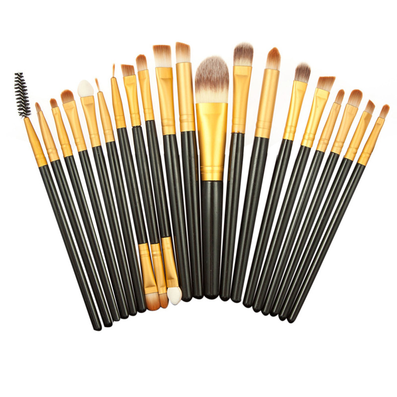 Professional 20Pcs Makeup Brushes Set Pro Powder Blush Foundation Eyeshadow Eyeliner Lip Cosmetic Brush Kit Beauty Tools new 32 pcs makeup brush set powder foundation eyeshadow eyeliner lip cosmetic brushes kit beauty tools fm88