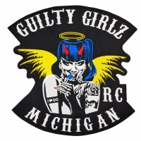 GUILTY GIRLZ motorcycle patch embroidery iron on cool jacket biker delicate patches for jacket