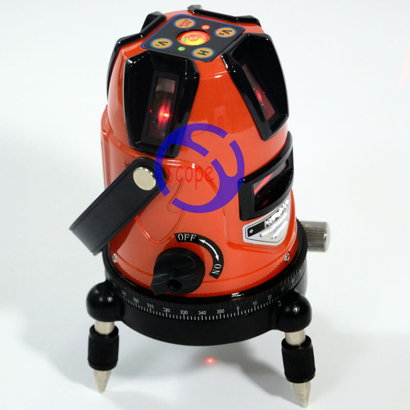 Free Shipping ! Cross ink Line Laser Level Instrument 5line 1 point laser level ( 4V1H) все цены