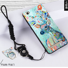 hot deal buy xiaomi redmi 4a simple style black frame cartoon painted 3d phone shell cover case for redmi 4a #0908