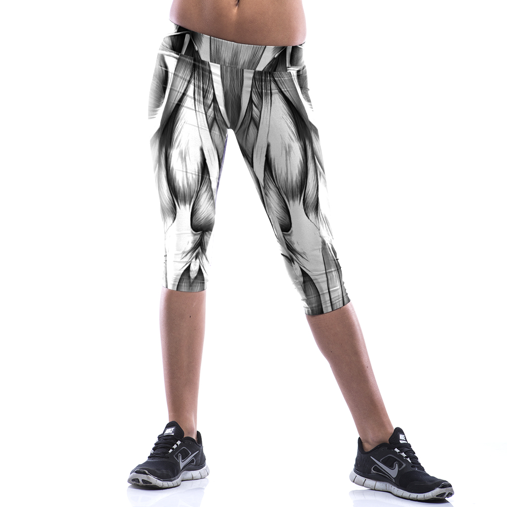 Stretch Ladies' Leggings Splash-ink Digital Printing Yoga Movement 7 Minutes of Pants Contracted impression Printed  Cosplay
