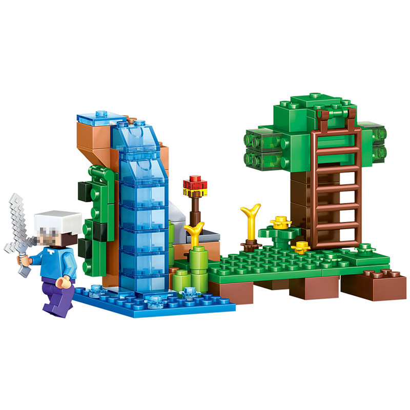 LELE My World Series Bricks The Jungle Tree House Alex Compatible LegoINGlys Model Building Blocks 4IN1 Toys for Children Gifts mary pope osborne magic tree house 39 dark day in the deep sea