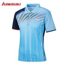 Оригинальные Kawasaki мужские рубашки поло с коротким рукавом быстросохнущие полиэфирные мужские футболки для тенниса и бадминтона спортивная одежда ST-S1101