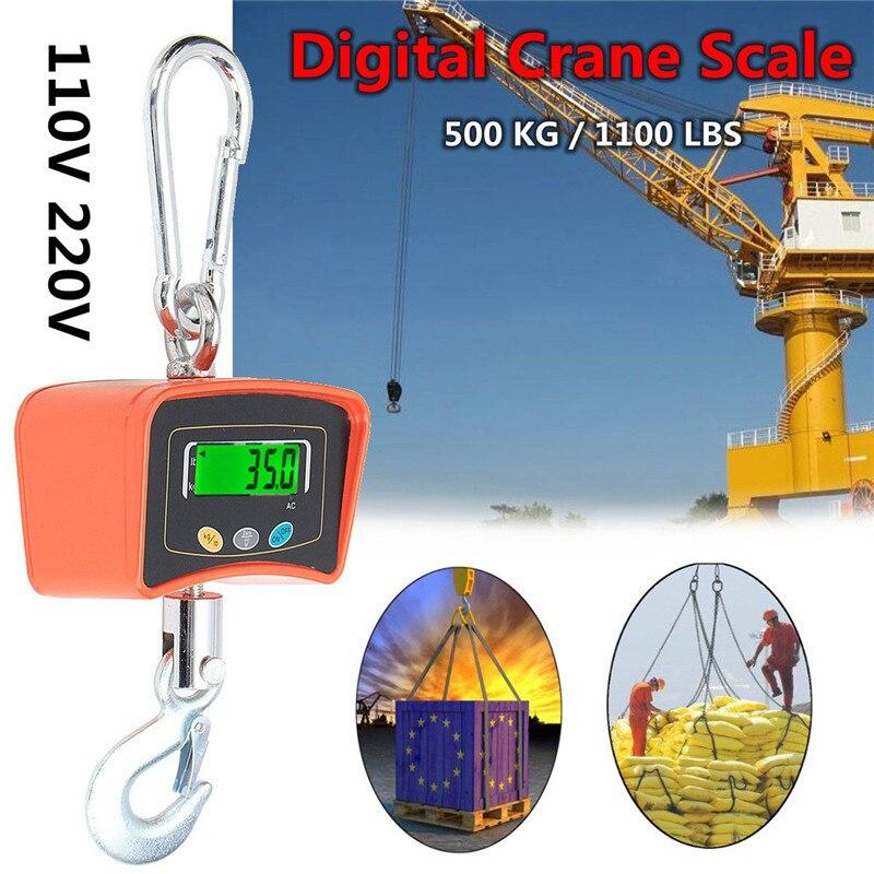 500 кг/1100 фунтов цифровой крановые Весы 110 В/220 В тяжелых промышленных висит Весы электронные весы баланс Инструменты