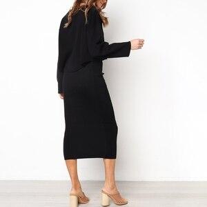 Image 3 - Damska Bodycon długa spódnica wysokiej talii obcisłe długie spódnice Club Party ołówek Casual W729