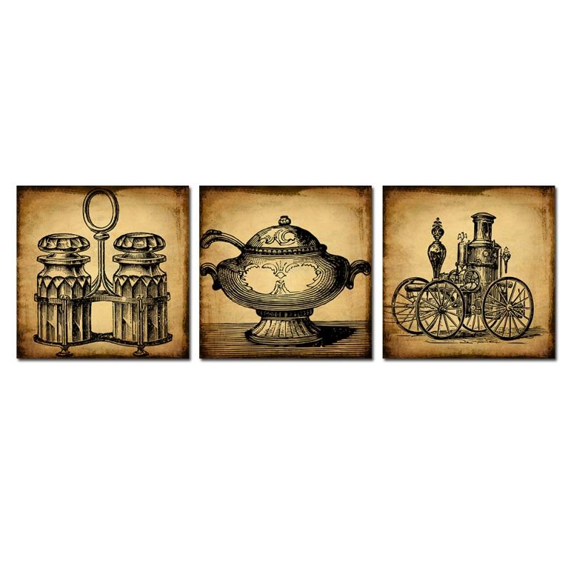 unids retro objetos abstractos de la locomotora de vapor de la lmpara de pared de