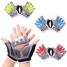 Anti-slip Cycling Gloves GEL Pad Unisex Gym Bodybuilding Training Outdoor Sports Fitness Eldiven Bicycle Half Glove Breathable half gloves outdoor sports fitness mountaineering mitts half slip