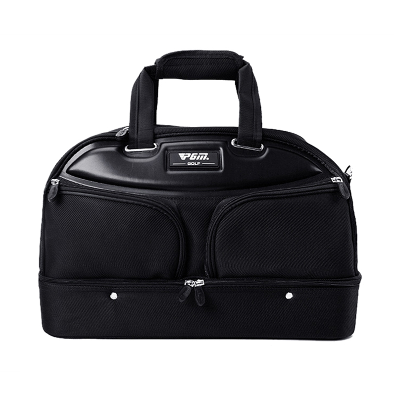 PGM Golf Clothing Bag Portable Waterproof Golf Bag Double Layer Sports Handbag Basketball Gym Fitness Shoulder Bag Shoes Storage