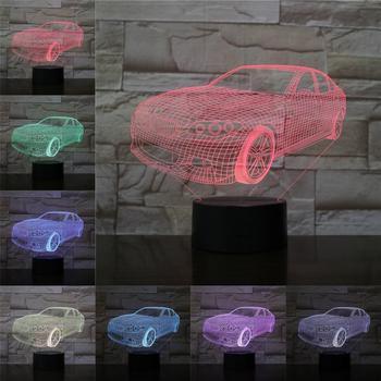 Night Light 3D Lamp Car Limousine Table Lighting Home Decor Car Dealership Decoration Flashlight RGB Multicolor Change Touch LED image