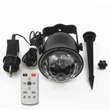 Светодиодный светильник с рябью воды, наружный садовый ландшафтный светильник с дистанционным управлением, магический шар с водным узором, сценический светильник, украшение для дома