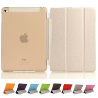 Newest Smart Cover For Fundas Apple Ipad Mini 4 With Magnetic Rod PU Leather Tablet PC