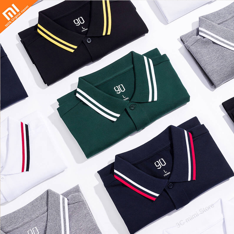 Xiaomi Mijia Polo Shirt Printing 95% Cotton Fashion Summer Short Sleeve T-Shirt For Men's Jersey Breathable Shirt T-shirt Home