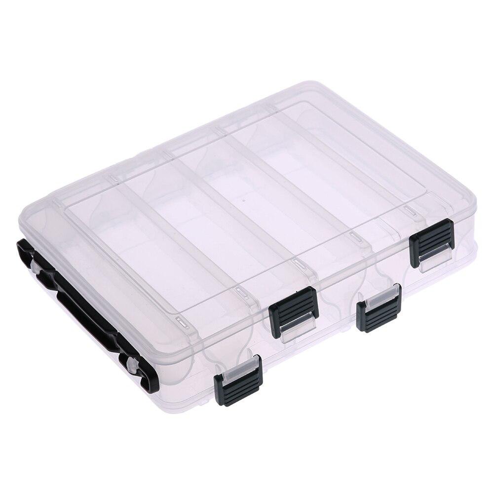 Doble cara 12 compartimiento carpa Pesca accesorios señuelos Bait caja de almacenamiento transparente camarones cajas de aparejos de Pesca