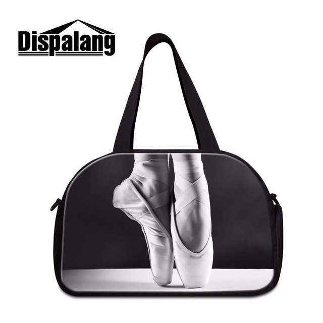 Dispalang Ballet Girls Shoulder Travel Bag Pretty Large Tote Duffle Bags Women Handbag Weekend Bag with Shoe Pocket Trolley Bags