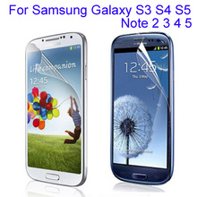 2pcs clear glossy screen protector film Samsung Galaxy S3 S4 mini S5 Note 2 3 4