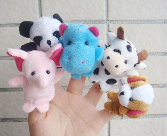 MOONBIFFY-10Pcs-Animal-Finger-Puppet-Plush-Toys-Cartoon-Biological-Child-Baby-Favor-Doll-Kids-Gifts-Free-shipping-Random-Color-2