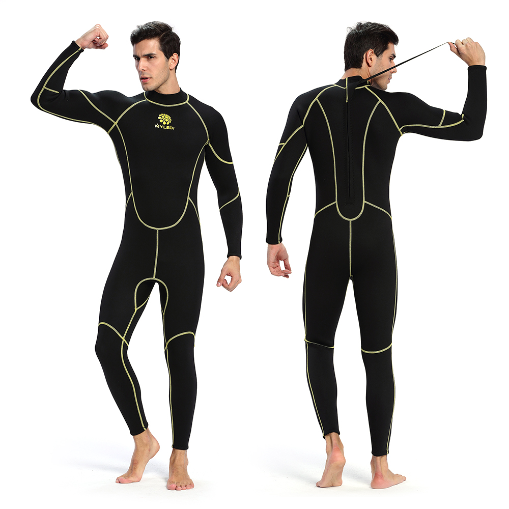 Men s Neoprene Wetsuit One Piece Full body 3mm Back Zip Scuba Dive Wetsuit Swimming Surfing