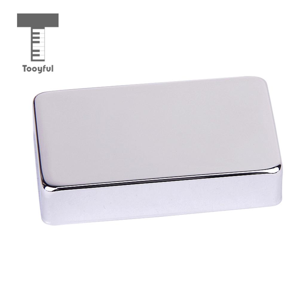 Tooyful High Quality Metal Guitar Blank Humbucker Pickup Cover Chrome Plated Replacement for Electric Guitars 50mm 52mm Copper