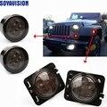 Светодиодный передний указатель поворота светильник для Jeep Wrangler JK 2007-2016 желтый светильник КРЫЛО боковой светильник комбинированный объект...