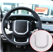 ABS Chrome Steering Wheel Sequins Trim For Landrover Range Rover Velar 2017 Car Accessories Parts