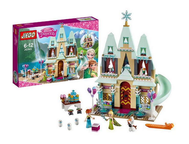 519pcs Friend Arendelle Castle Building Blocks Sets Princess Anna Olaf Minifigure Bricks toys Compatible Lepin Friends