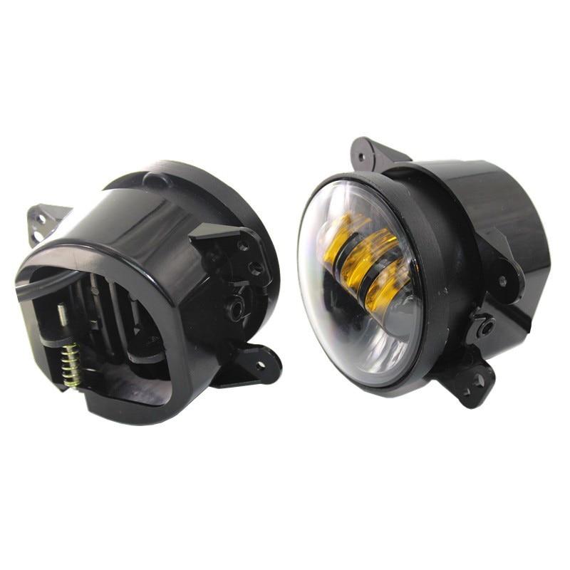 FADUIES 1 pair 4 Inch 30 W Putaran kuning cahaya Led depan Fog lamp - Lampu mobil - Foto 2