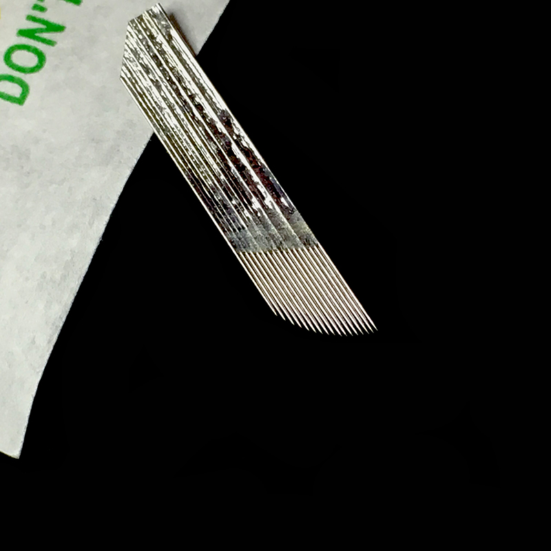 50pcs Tattoo Needle Microblading Needles 17 Pins for Manual Pen Stainless Steel 17 Microblade for Eyebrow Blade 3D Embroidery in Tattoo Needles from Beauty Health