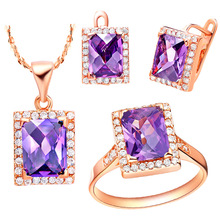 NEW set of 925 Sterling Silver suit Austria crystal foreign trade star jewelry wholesale