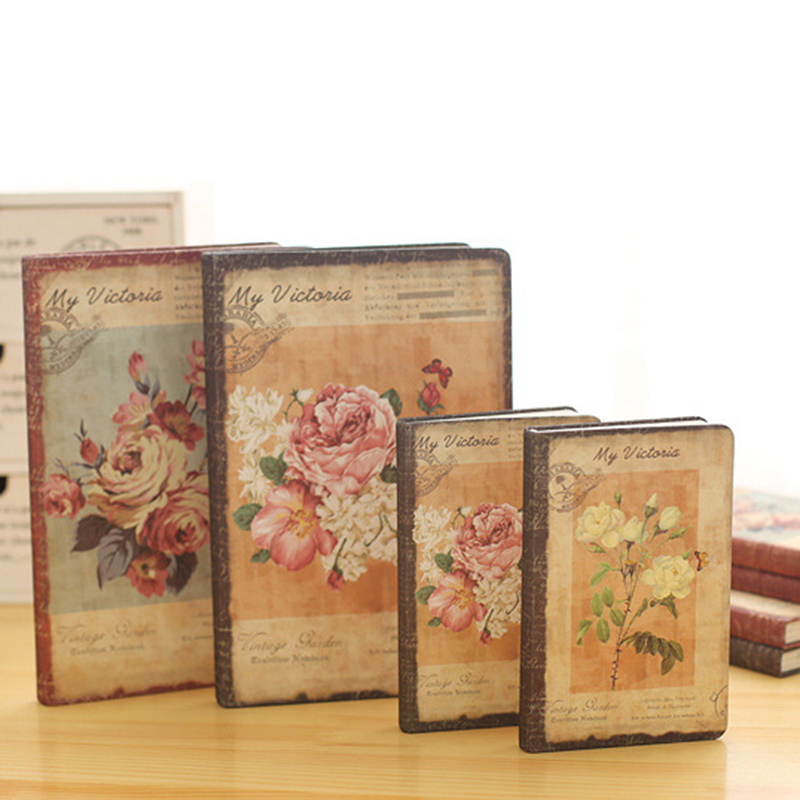 New Retro Floral Flower Schedule Book Diary Weekly Planner Notebook School Office Supplies Style Random new arrival weekly planner thumb girl notebook creative student schedule diary book color pages school supplies no year limit