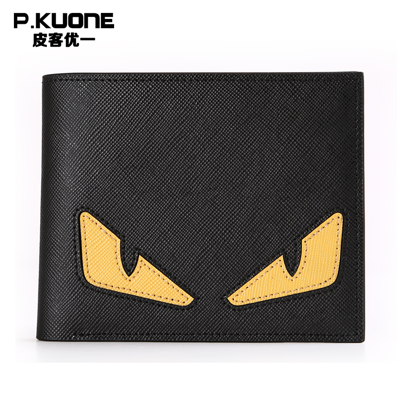 ФОТО Famous Brand Genuine Leather Women Wallet Cartoon Luxury Unisex Wallet Designer Men Wallet Male Purse