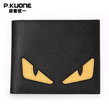 Famous Brand Genuine Leather Women Wallet Cartoon Luxury Unisex Wallet Designer Men Wallet Male Purse