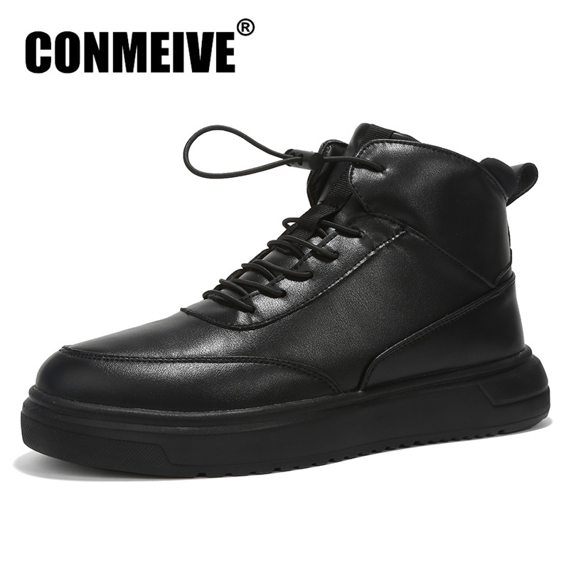 New Arrival Luxury Brand Shoes Men Fashion Style Leather Casual Mens Ankle Boots High Light Flat Autumn Winter Flats Male Shoe датчик kus 12v 24v