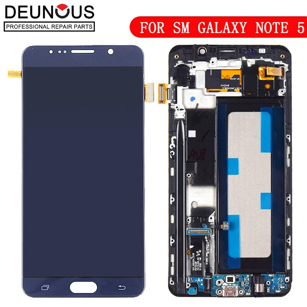 Nouveau TFT Affichage Pour Samsung Galaxy N920P LCD Digitizer Capteur Avec Cadre écran tactile Pour Samsung Note 5 N920A N920V écran LCD