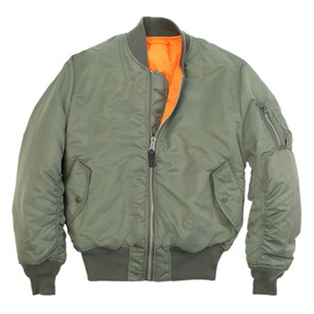 Mens U.S Army Military Classic Bomber Flight Jacket Pilot jacket Air Force Tactical Jacket Orange Lining For Rescue Purpose цена и фото