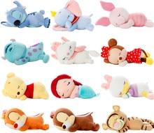Cute Lying Sleeping Stitch Little Mermaid Chip Dale Marie Cat Piglet Daisy Donald Duck Dumbo Bear Plush Toy Stuffed Animals