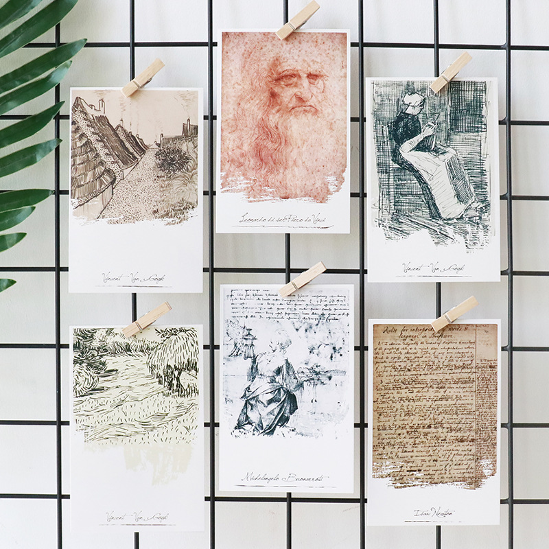 30pcs/lot Creative Postcard DIY Postcard Message Cards Bookmarks Gift Card Vintage Stationery Box Packed Bookmarks
