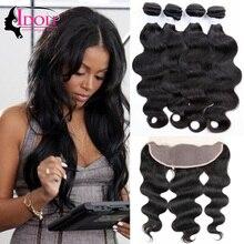 Peerless Hair Brazilian Virgin Hair With Frontal 3 Bundles Stema Hair Brazilian Body Wave Ear To Ear Lace Frontal With Bundles
