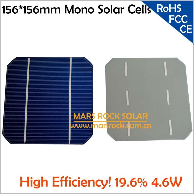200pcs 4.66W 0.5V 19.6% High Efficiency 156x156mm Solar Cells Monocrystalline,Uniform Color,Buy PV Solar Cell Get Free PV Ribbon
