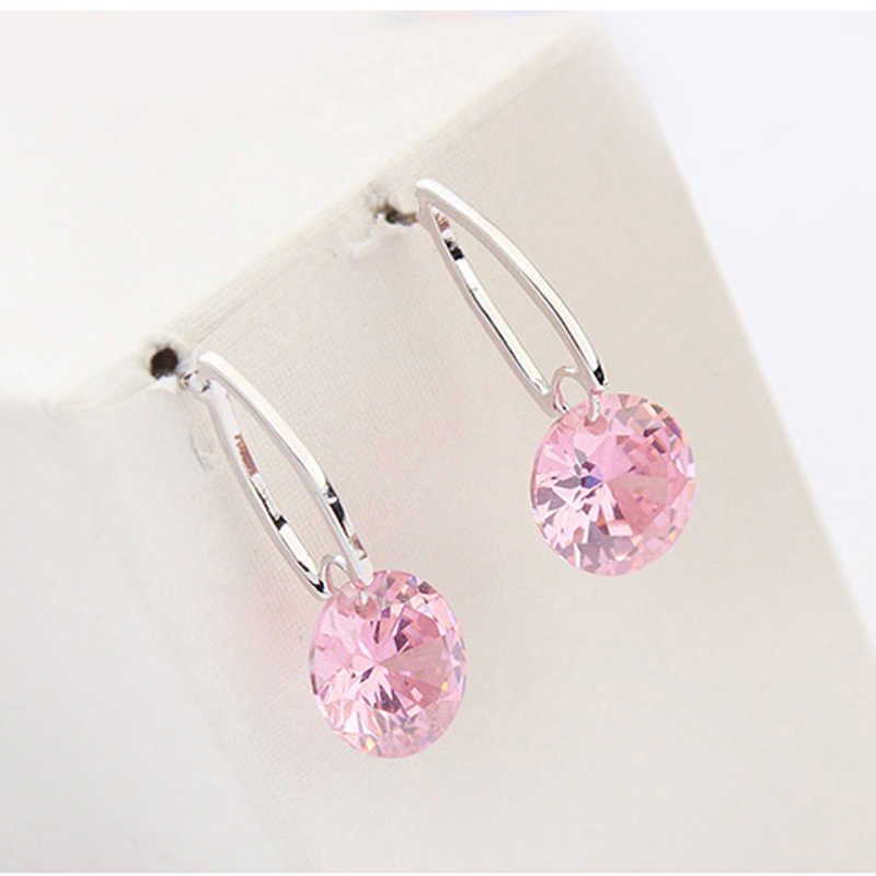d18ddf6ff ... 11.11 Top Quality Famous Designer Jewelery for Women Gold Color Plating  Round Stud Earrings With CZ ...