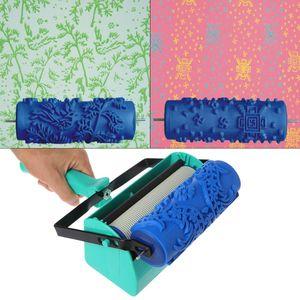Máquina de pintura de decoración de pared de Color doble de 5 pulgadas para herramienta de cepillo de rodillo patrón 3D papel tapiz decoración herramientas de pintura
