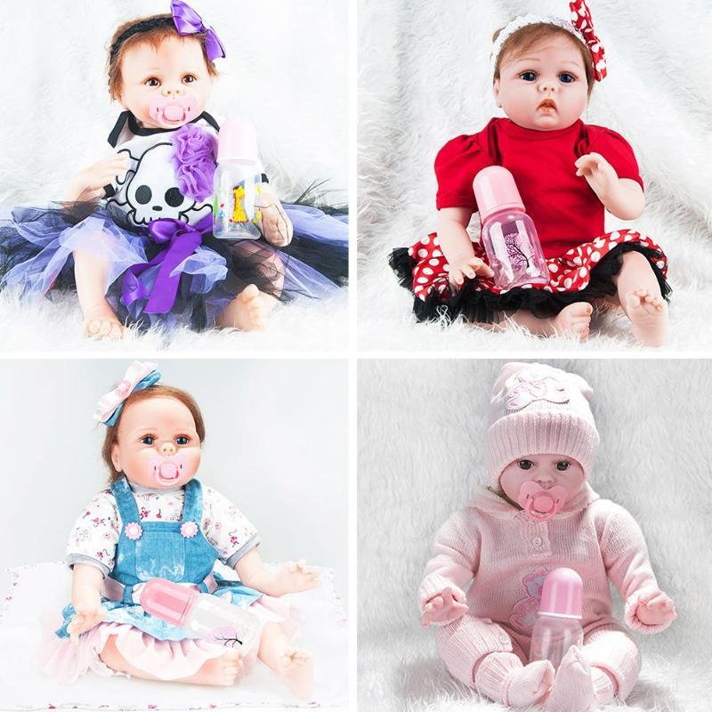22 pouces 55 CM poupée Reborn doux vinyle Silicone Reborn bébés pour filles à la main BeBe Reborn NPK poupée enfants cadeaux d'anniversaire jouet