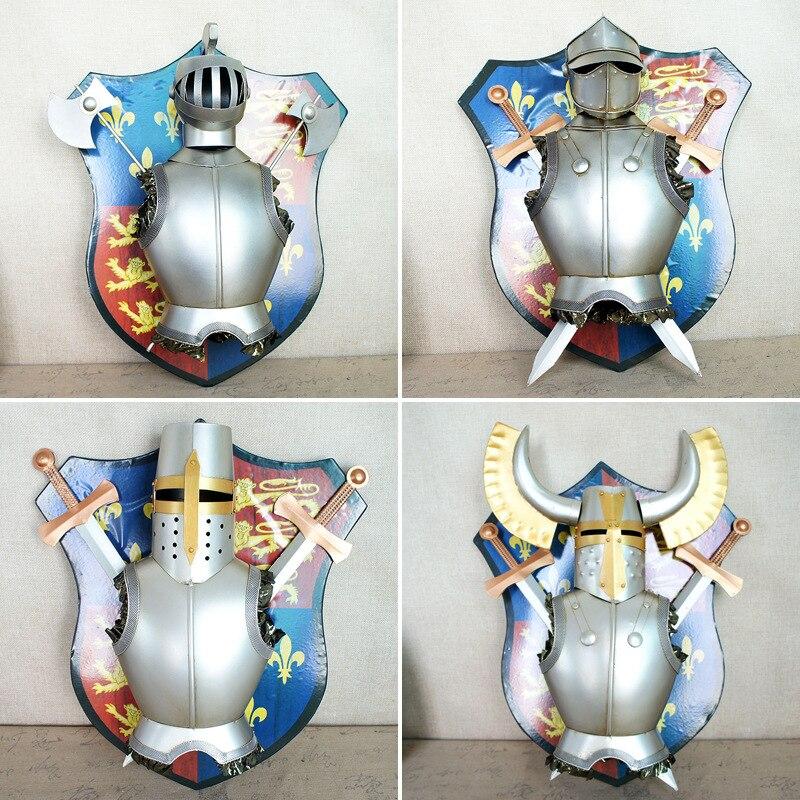 Скандинавское украшение дома металлический самурайский щит подвесные украшения креативные Металлические ремесла магазин Декор на стену для дома украшения аксессуары - 5