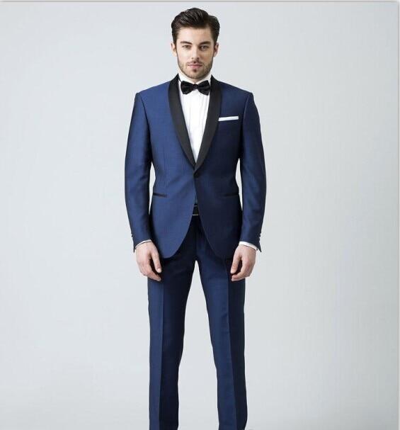 Royal Blue Mens Suit 2017 Wedding Suits M 0685 Costume Terno Masculino Men